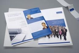 Faltblatt Einzelverband mit Testimonials