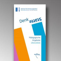 Titelseite Faltblatt der DenkStätte